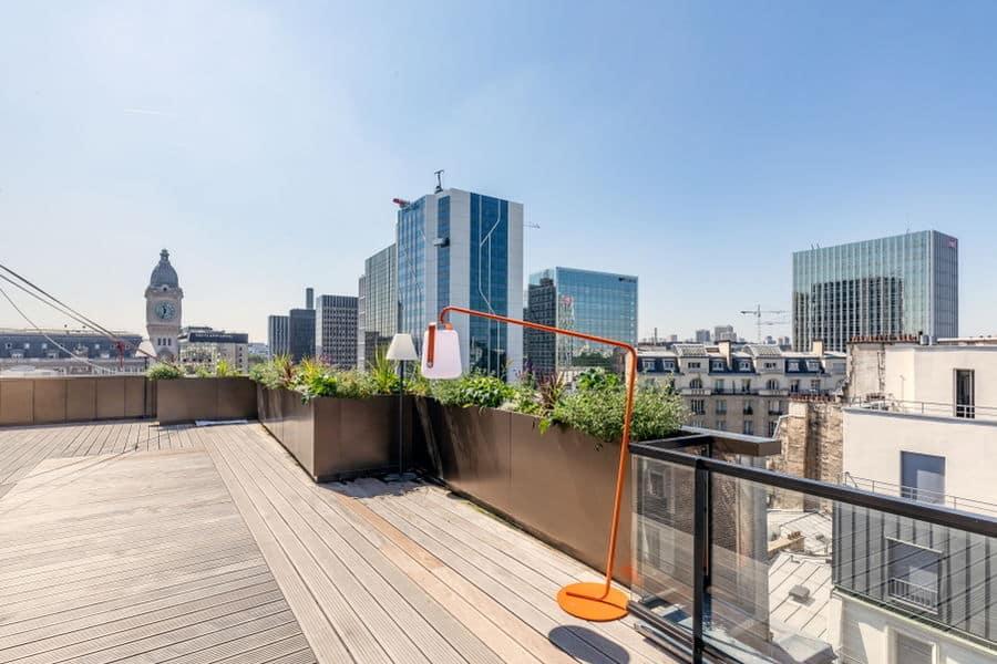Rooftop avec vue sur la Gare de Lyon